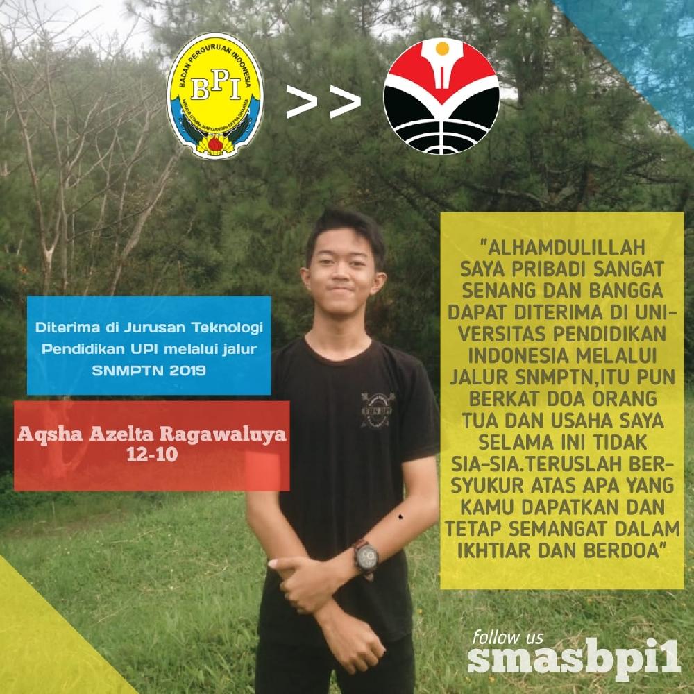 SMA BPI 1 BANDUNG Aqsha