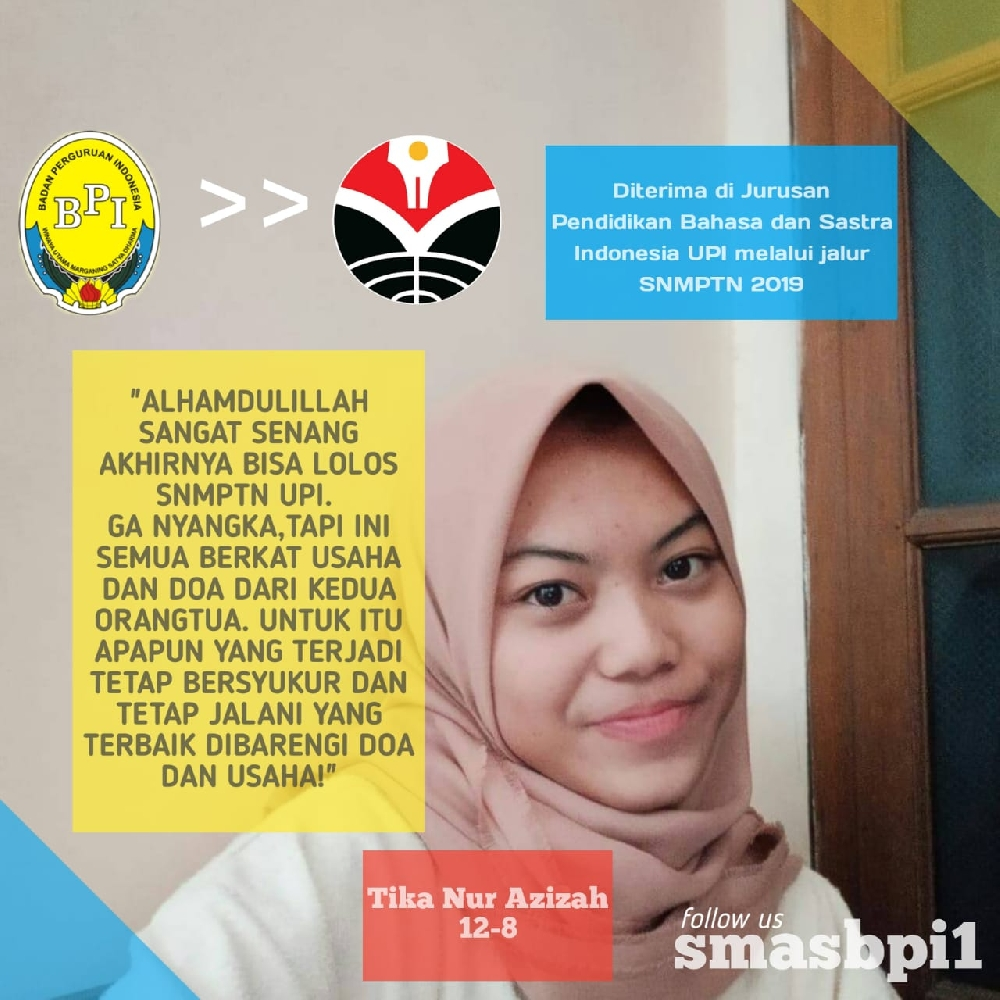 SMA BPI 1 BANDUNG Tika