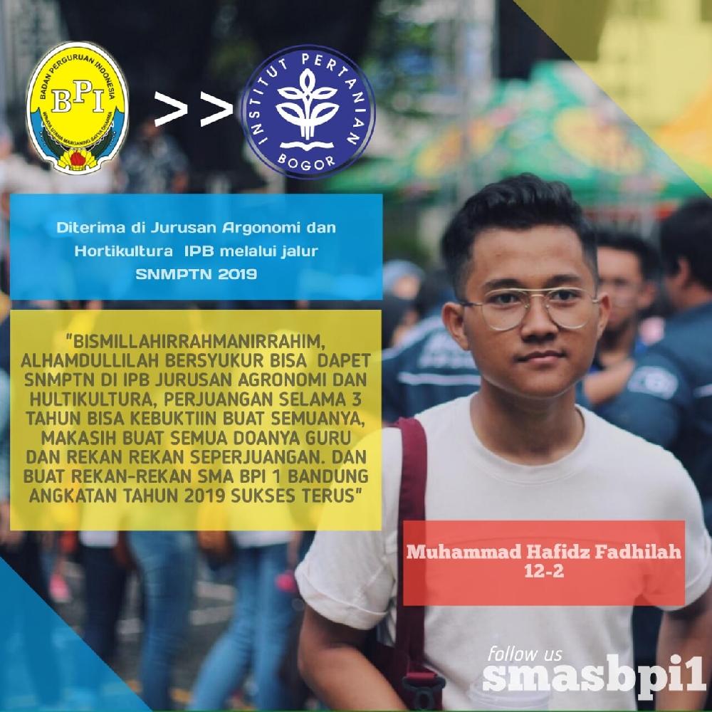 SMA BPI 1 BANDUNG Hafiz
