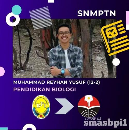 SMA BPI 1 BANDUNG Reyhan Yusuf