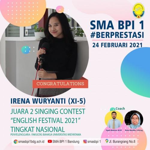 SMA BPI 1 BANDUNG Singing Contest