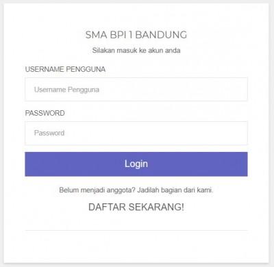 SMA BPI 1 BANDUNG E-learning