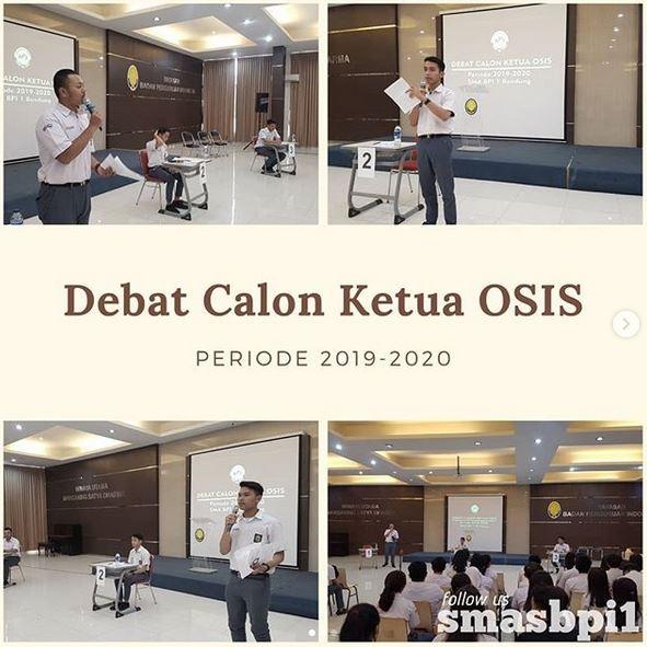 SMA BPI 1 BANDUNG Debat Calon Ketua OSIS 2019-2020