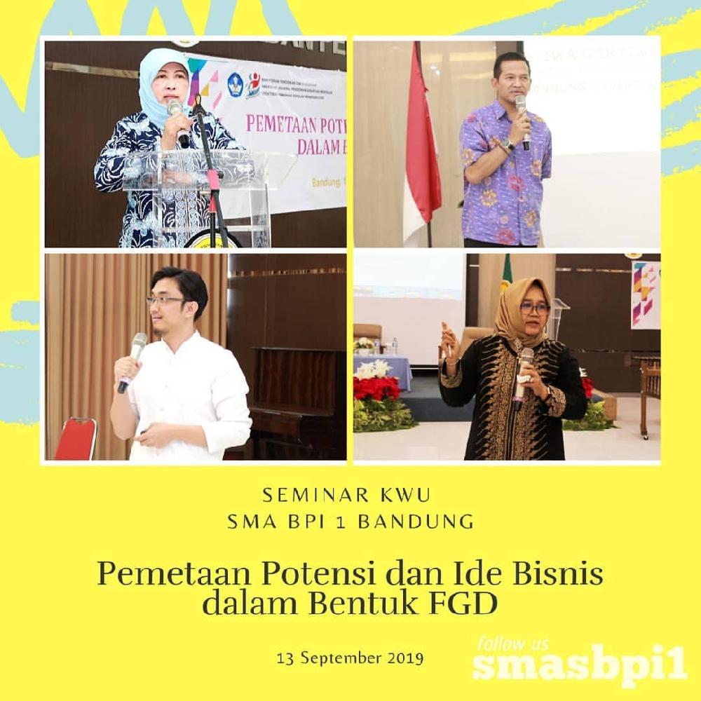 SMA BPI 1 BANDUNG Seminar KWU