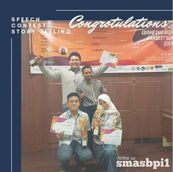 SMA BPI 1 BANDUNG Juara di IESF