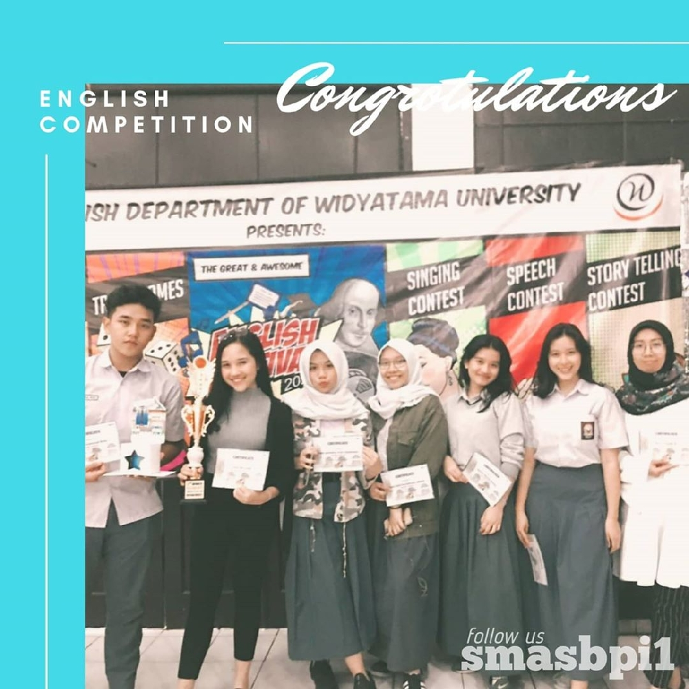 SMA BPI 1 BANDUNG Juara Bahasa Inggris
