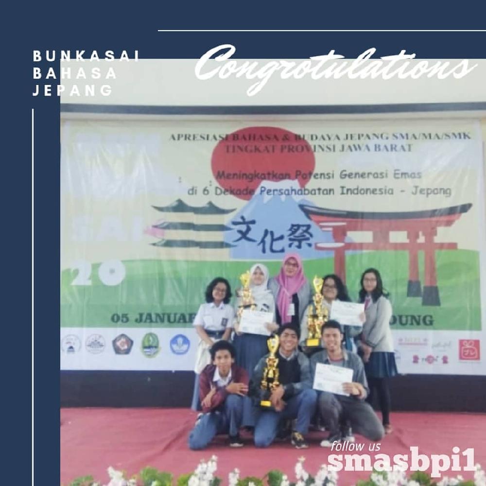 SMA BPI 1 BANDUNG Juara di acara Bukasai