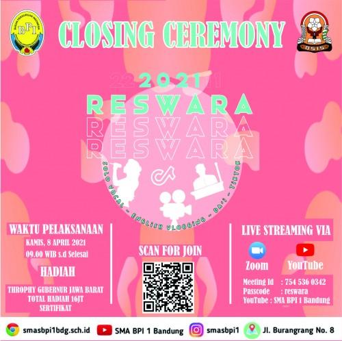 SMA BPI 1 BANDUNG Closing Ceremony Reswara 2021
