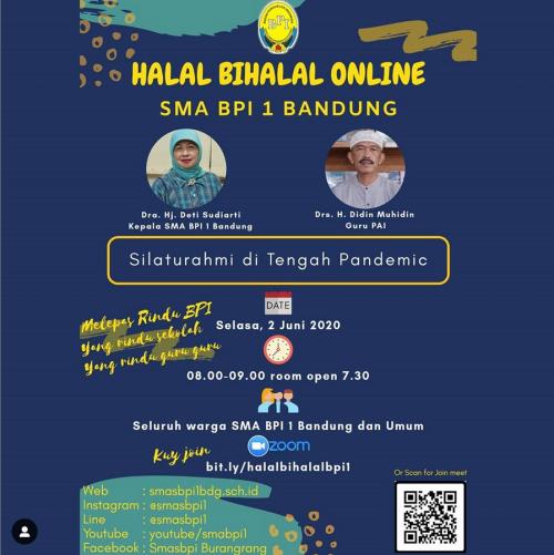 SMA BPI 1 BANDUNG Halal Bihalal Online