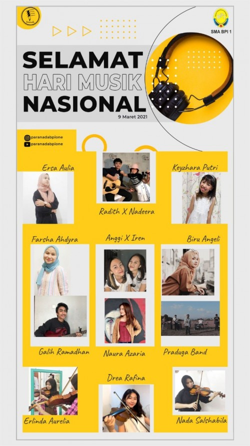 SMA BPI 1 BANDUNG Hari Musik Nasional