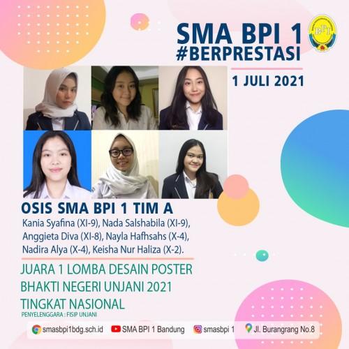 SMA BPI 1 BANDUNG Juara 1 lomba desain poster