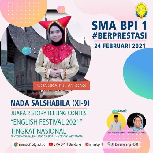 SMA BPI 1 BANDUNG JUARA 2 STORY TELLING CONTEST