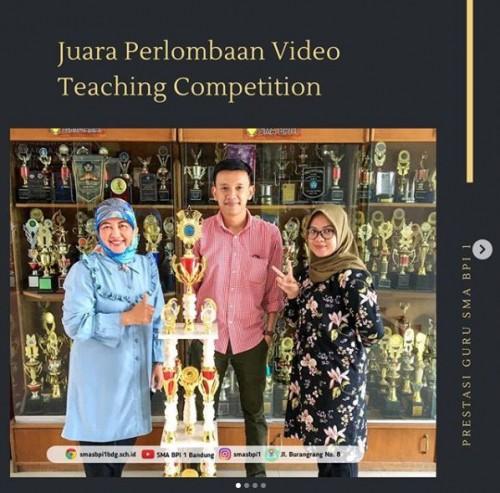 SMA BPI 1 BANDUNG Juara Ketiga di Perlombaan Video Teaching Competition