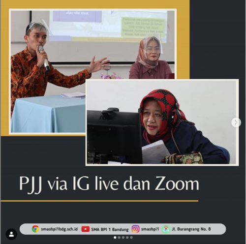 SMA BPI 1 BANDUNG PJJ Via Ig dan Zoom