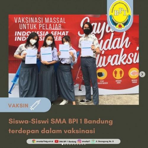 SMA BPI 1 BANDUNG SMA BPI 1 Bandung Vaksin Tahap 1